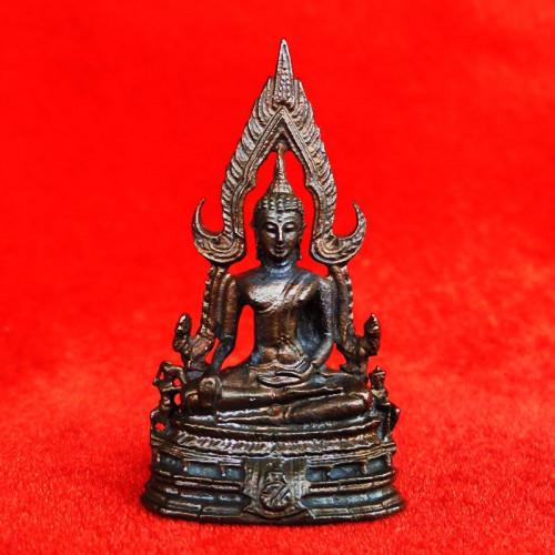รูปหล่อพระพุทธชินราช ภปร. กองทัพภาคที่ 3 เนื้อนวโลหะ ในหลวงเสด็จทรงเททอง ปี 2517 สุดยอดพิธี