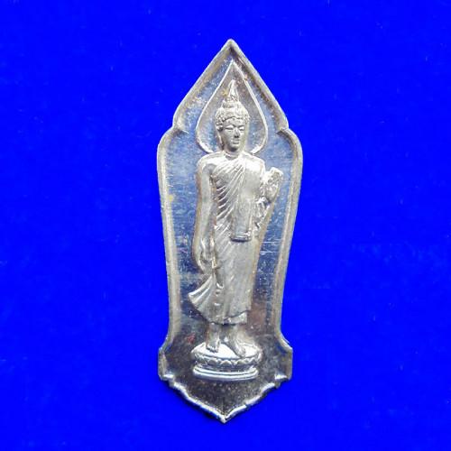 เหรียญพระลีลา 25 พุทธศตวรรษ เนื้อชินตะกั่ว พุทธมณฑล จ.นครปฐม ปี 2500 สวยสมบูรณ์มาก