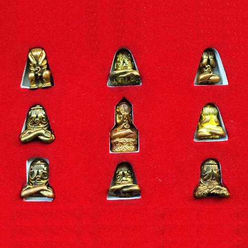 ชุดกรรมการ ครบทุกพิมพ์ พระปิดตาหลวงพ่อทับ วัดทอง รุ่น 3 ย้อนยุค 100 ปี เนื้อทองชนวนมวลสาร