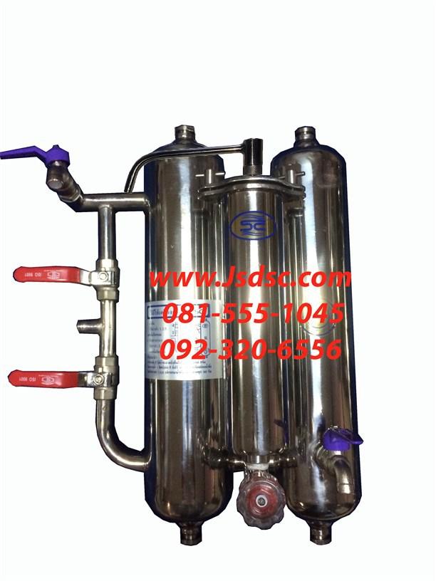 เครื่องกรองน้ำสแตนเลส 3ท่อ