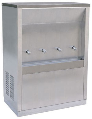 ตู้ทำน้ำเย็น maxcool แบบต่อท่อประปา 4 ก๊อก รุ่น MC-4P