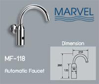 ก๊อกน้ำอัตโนมัติ MARVEL รุ่น MF-118 แบบออกผนัง
