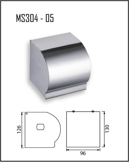 ที่ใส่กระดาษทิชชู่ สแตนเลส MS304-05