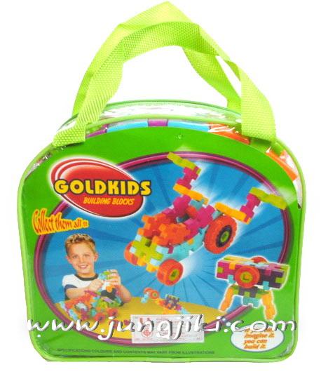 บล็อคตัวต่อของเด็กแบบมีกระเป๋าหิ้ว 62 ช้น