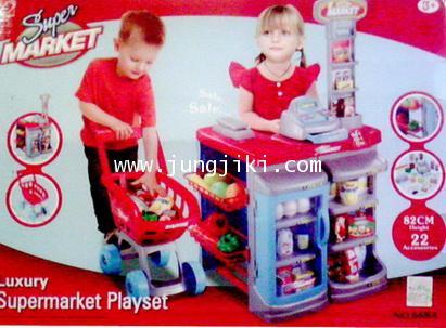 เคาน์เตอร์ซุปเปอร์มาร์เก็ตของเด็กชุดใหญ่