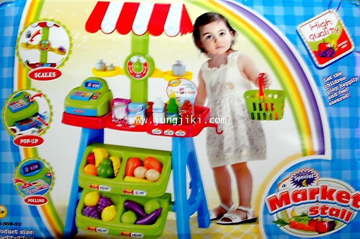 ซุ้มชั้นวางขายผักผลไม้ของเด็ก Market Stall