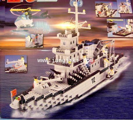 เลโก้บล็อกเรือรบ warship 970 ชิ้น Century Millitary -- ENLIGHTEN Warship 112