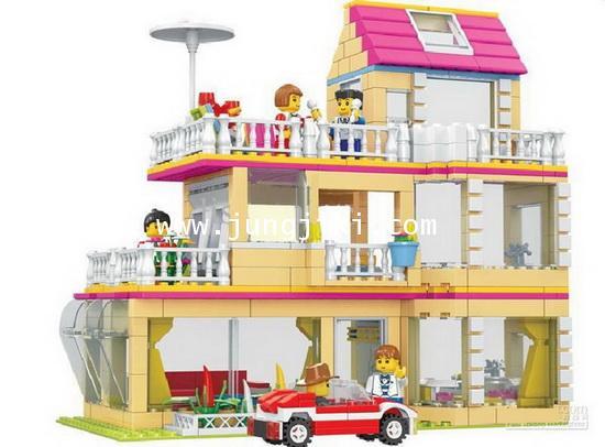 บริคต่อแบบเลโก้บ้านสามชั้น 621 ชิ้น ยี่ห้อ Dr.Luck