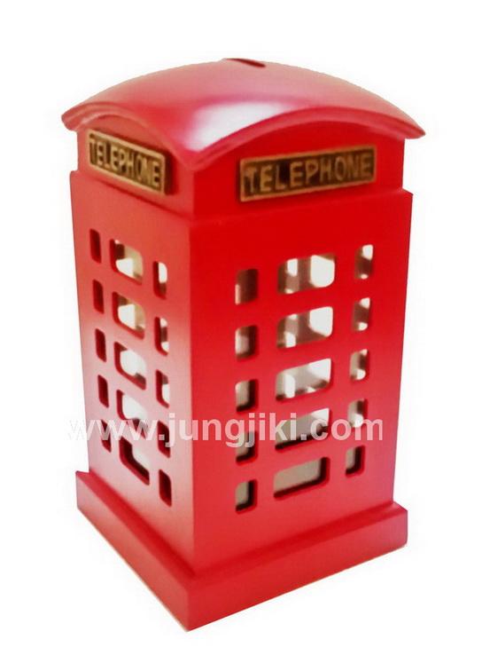 กระปุกออมตู้โทรศัพท์สีแดง