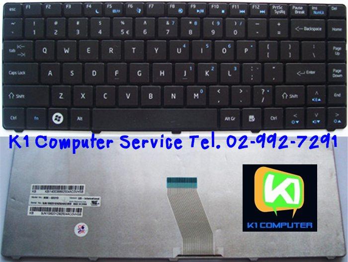 Keyboard Acer Emachines D725 D730 D525, Aspire 4732Z / Part No : KB.I140A.196, NSK-GEA1D, 9J.N1S82.A