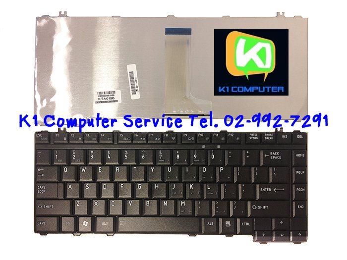Keyboard Notebook gt; Toshiba Satellite M200 M205 L200 M300 L300 Series / สีดำ