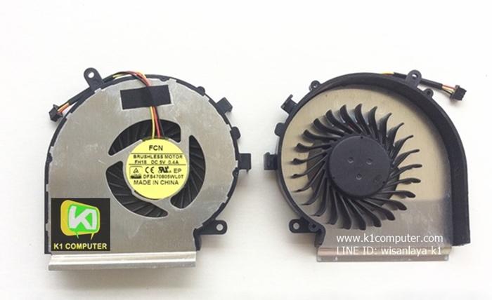 MSI GE62 2QD GE62 2QE GE62 2QF GL62 GE72 GL72 GP72 พัดลมโน๊ตบุ๊ค Cpu Fan หัวเสียบ 3 พิน (LEFT-RIGHT