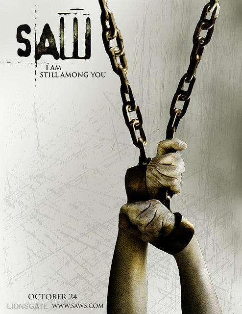Saw : เกม ตัด ต่อ ตาย ภาค 1-5 DVD มาสเตอร์(พากษ์ไทย/บรรยายไทย) 5 แผ่น