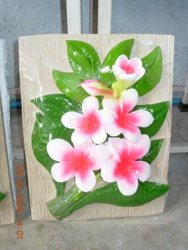 แผ่นภาพลีลาวดีสีชมพู ขนาด 30 x 40 cm.