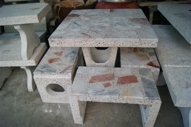 โต๊ะหินอ่อนทรงญี่ปุ่น 90 x 90 cm.