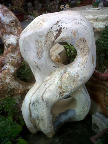 หินประดับสวนเลข 8 สีขาวน้ำตาล