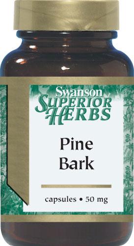 Swanson Pine Bark Extract 100 แคปซูล (USA) สารสกัดจากเปลือกสน เพื่อช่วยลดและป้องกัน กระ ฝ้า
