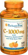 Vitamin C with Bioflavonoids and Rose hip วิตามินซี 1000mg. นำเข้าจากอเมริกา 1 ขวดบรรจุ 100 เม็ด