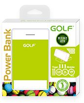 Power bank Golf 11000mAh รุ่น Tiger 111 แบตสำรอง สามารถวางสมาร์ทโฟนได้ มีกระจกเงา พกพาสะดวก สีเขียว