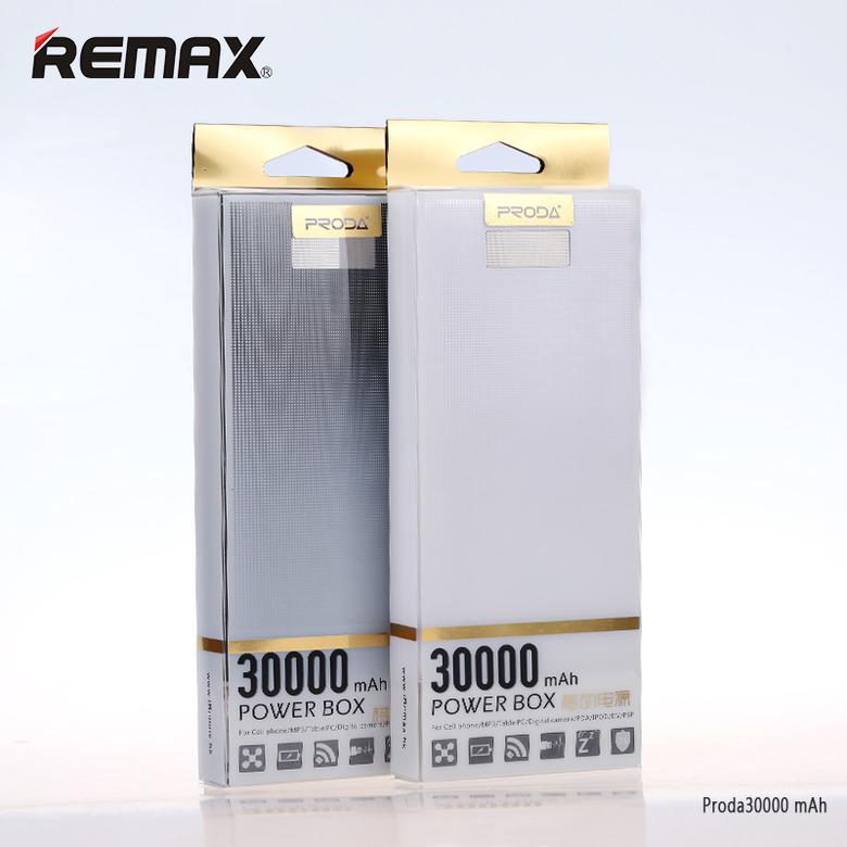 แพคคู่ ถูกกว่า Power Bank Remax Proda 30000mAh แบตสำรองความจุสูง ของแท้