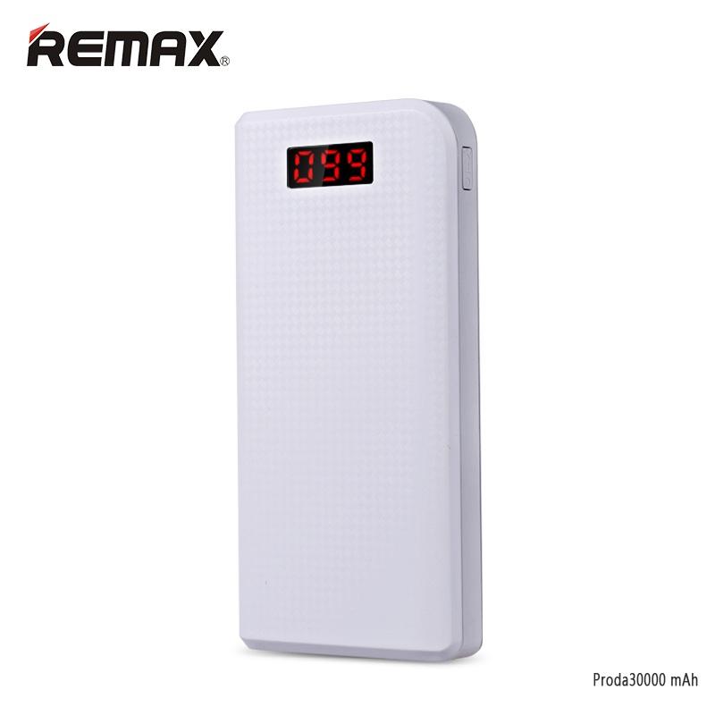 Power Bank Remax Proda 30000mAh แบตสำรองความจุสูง คุณภาพดีเยี่ยม ใช้ได้นาน ทนทาน ของแท้ สีขาว