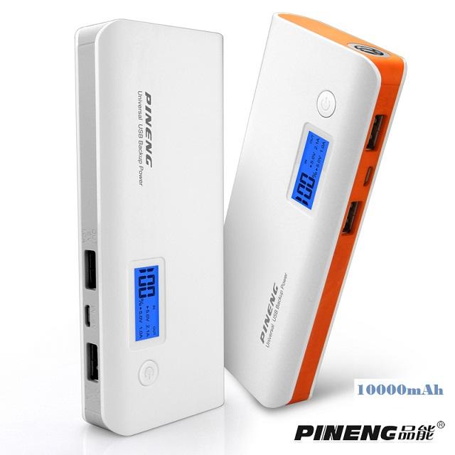 Power Bank PINENG PN-968 10000 mAh ของแท้ แบตสำรองแบบพกพา สำหรับชาร์จอุปกรณ์มือถือสมาร์ทโฟน