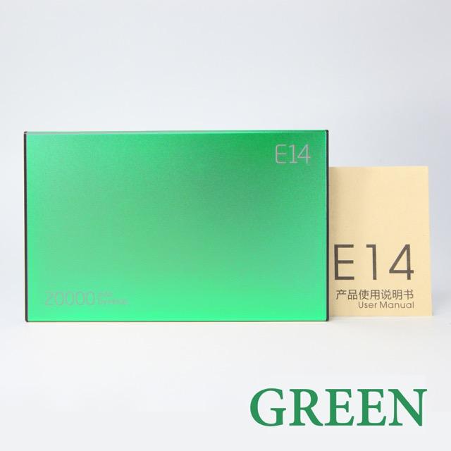 Power Bank ELOOP E14 20000mAh ของแท้ แบตสำรองคุณภาพเยี่ยม วัสดุดี ทนทาน น่าใช้ สีเขียว