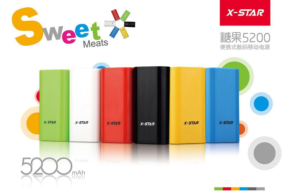 Power bank X-STAR 5200mAh แบตสำรองสำหรับชาร์จอุปกรณ์ต่างๆ ขนาดเล็ก พกพาง่าย ใช้ทน
