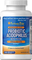 Probiotic Acidophilus with pectin 3 Billion live cells โปรไบโอติก ช่วยย่อย ลดสิว ระบบขับถ่าย
