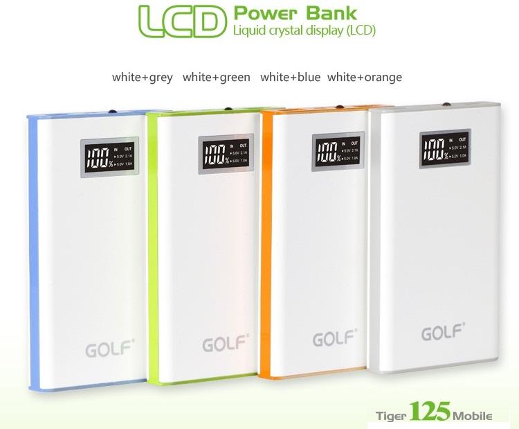 Power Bank Golf 11000mAh แบตสำรอง คุณภาพ มีจอ LCD แสดงปริมาณแบตที่เหลือ รุ่น Tiger 125