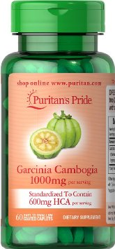 Puritan Garcinia Cambogia 1000mg. 60 เม็ด สารสกัดจากผลส้มแขก สลายไขมันเก่ายับยั้งไขมันใหม่