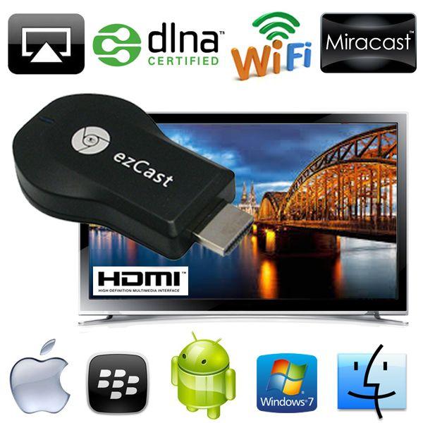 อุปกรณ์แปลงสัญญาณภาพ เสียง มือถือสมาร์ทโฟน,แท็บแล็ต ขึ้นจอ ทีวี ผ่าน WIFI EZCast HDMI Dongle For TV