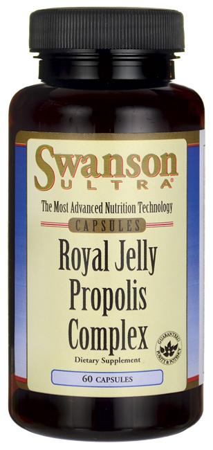 Swanson Royal Jelly Propolis Complex 60 เม็ด (USA) เข้มข้น 6HDA ดีกว่าตัวที่โดมทาน