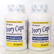 อาหารเสริมผิวขาว Ivory Caps 1500 mg กลูต้าไธโอนเม็ดแบบกระปุกที่ดีที่สุด 60 capsules อย.อเมริกา