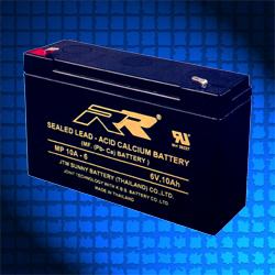 แบตเตอรี่แห้ง RR MP10A-6V THAI 6V 10Ah