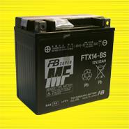 แบตเตอรี่มอเตอร์ไซต์ FB FTX14-BS JAPAN 12V 12Ah Yuasa YTX14-BS motorcycle battery