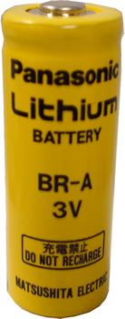 Panasonic พานาโซนิค BR-A A-Size 3 Volts 1800mAh 1.8Ah Lithium Poly Carbon Monofluoride แบตเตอรี่ลิเธ