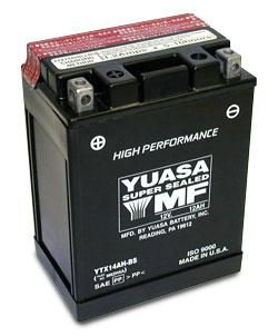 YUASA YTX14-BS 12V 200CCA SLA Motorcycle Battery