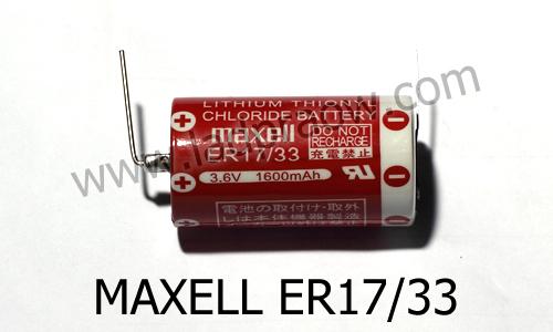 Maxell ER 17/33 Lithium Thionyl Chloride Battery แบตเตอรี่ลิเธียม 3.6V