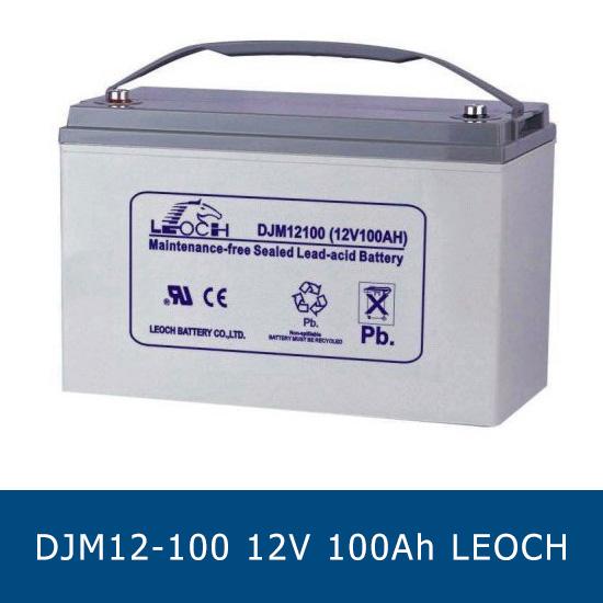 แบตเตอรี่แห้ง LEOCH DJM12-100 Battery Lead Acid 12V 100Ah VRLA AGM