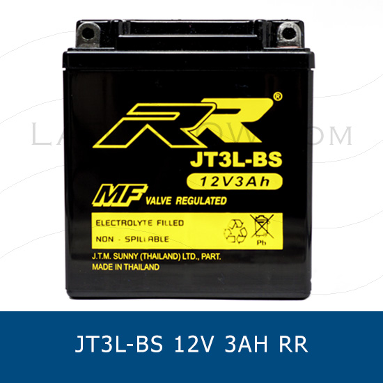 RR JT3L-BS YB3L-BS แบตเตอรี่แห้ง มอเตอร์ไซต์ motorcycle battery