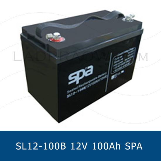 แบตเตอรี่แห้ง 12V 100Ah SPA SLA BATTERY SL12-100B Battery Lead Acid VRLA AGM