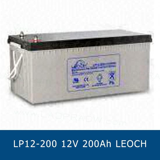 แบตเตอรี่แห้ง LEOCH DJM12-200 Battery Lead Acid 12V 200Ah VRLA AGM