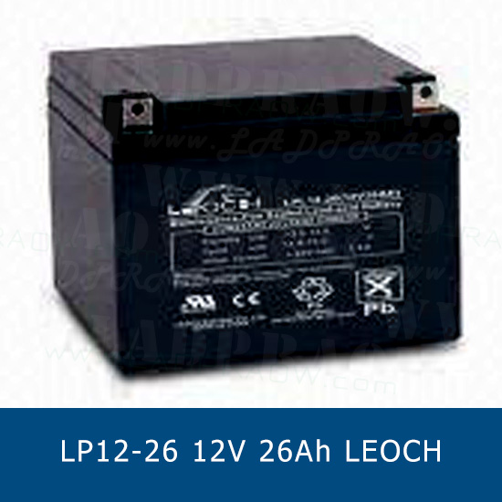LEOCH DJW12-26 LP12-26 CHINA แบตเตอรี่แห้ง 12V 26Ah