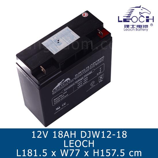 แบตเตอรี่แห้ง LEOCH SLA BATTERY 12V 18Ah DJW12-18 LP12-18