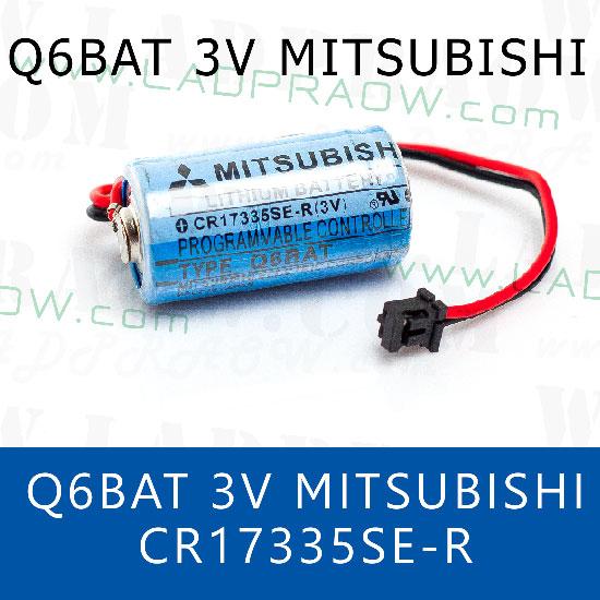 Mitsubishi Q6BAT 3V Lithium PLC CNC size 2/3A battery CR17335SE-R แบตเตอรี่ลิเธียม