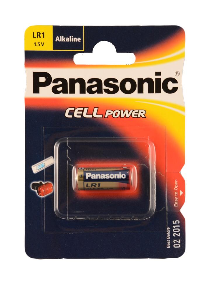 แบตเตอรี่ ลิเธียม Panasonic LR1 1.5V N size Lithium battery
