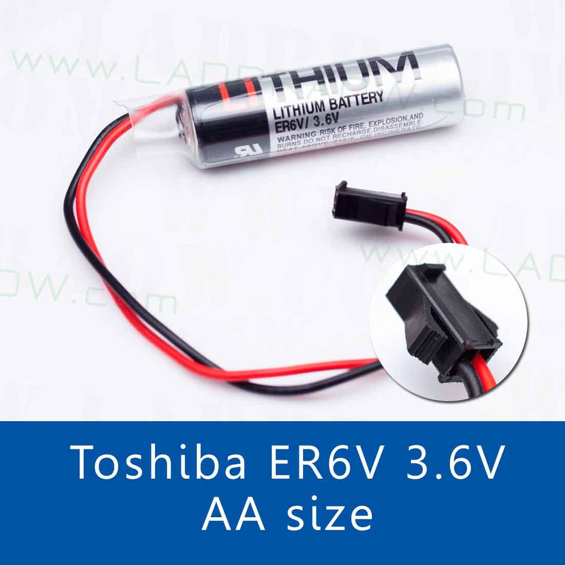 TOSHIBA ER6V / 3.6V Lithium Battery แบตเตอรี่ลิเธียม พร้อมสาย