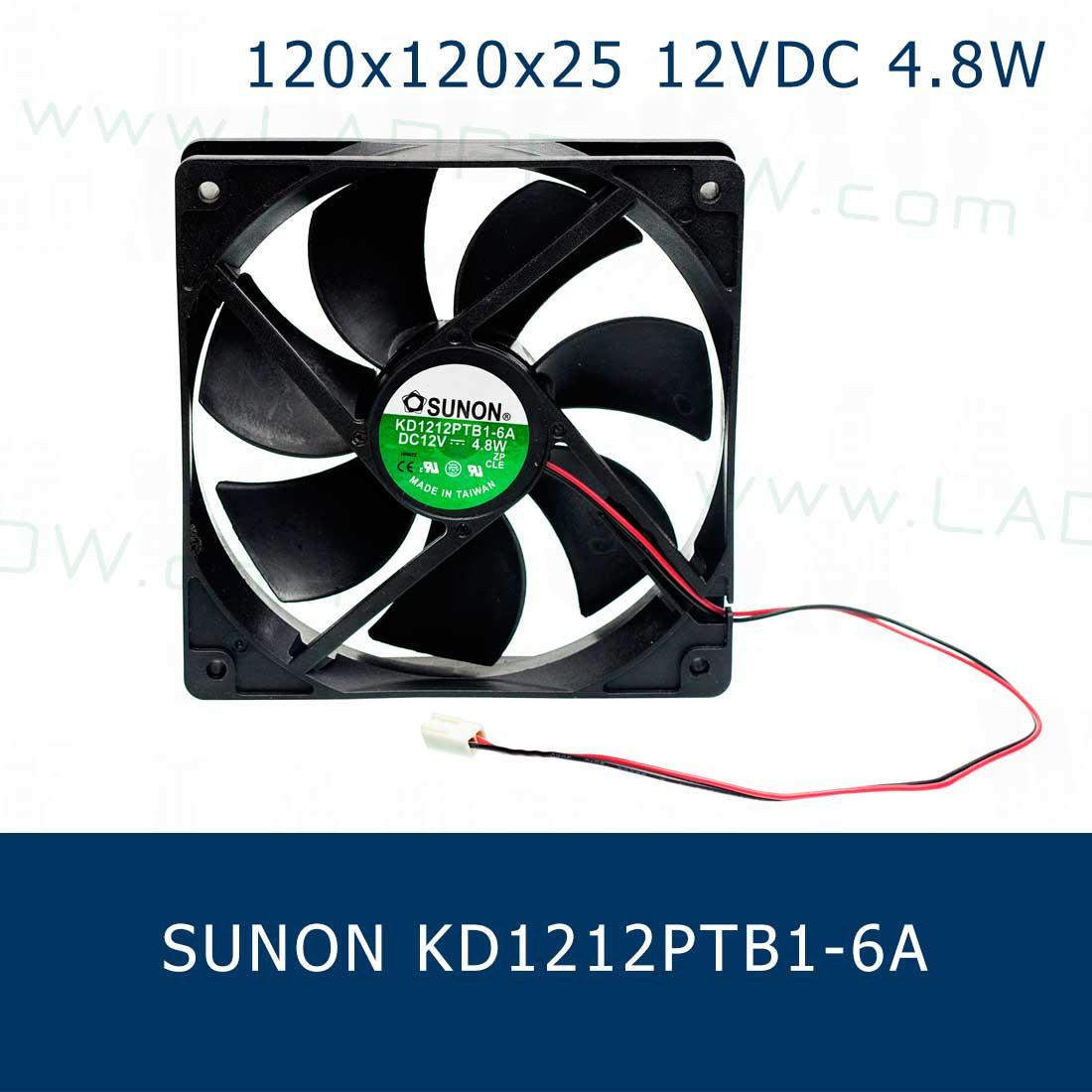 พัดลมระบายความร้อน 120x120x25mm 4inch 12VDC KD1212PTB1-6A Cooling fan