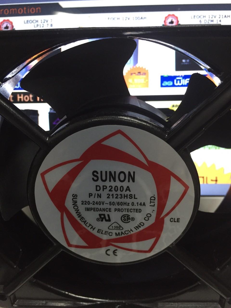 พัดลมระบายความร้อน 220VAC 0.14A SUNON DP200A P/N 2123HSL Cooling fan